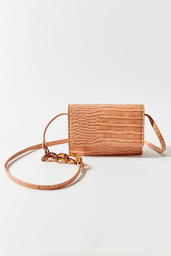 Urban Outfitters Jackie Croc Embossed Crossbody Bag