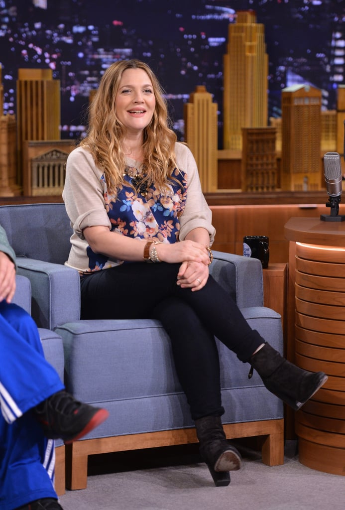 Drew Barrymore at The Tonight Show With Jimmy Fallon