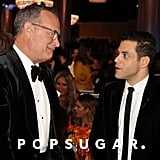 Tom Hanks and Rami Malek at the 2020 Golden Globes