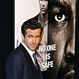 Ryan Reynolds posed at a premiere.