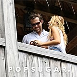 Ryan Reynolds and Blake Lively laughed in South Carolina.  Source: Alex Gutierrez