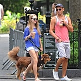 Amanda Seyfried and a friend strolled around the park in NYC.