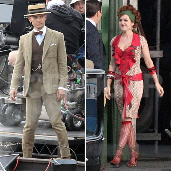 Isla Fisher and Tobey Maguire on Great Gatsby Set Pictures