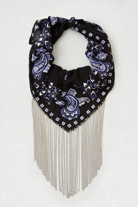 American Eagle Outfitters AEO Navy Fringe Scarf ($20)