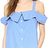 Clu Off Shoulder Button Down Top ($187)