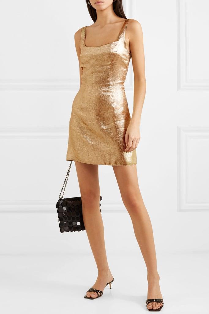 De La Vali Limon Lurex Mini Dress