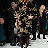 Anna Dello Russo at the Roberto Cavalli menswear show.