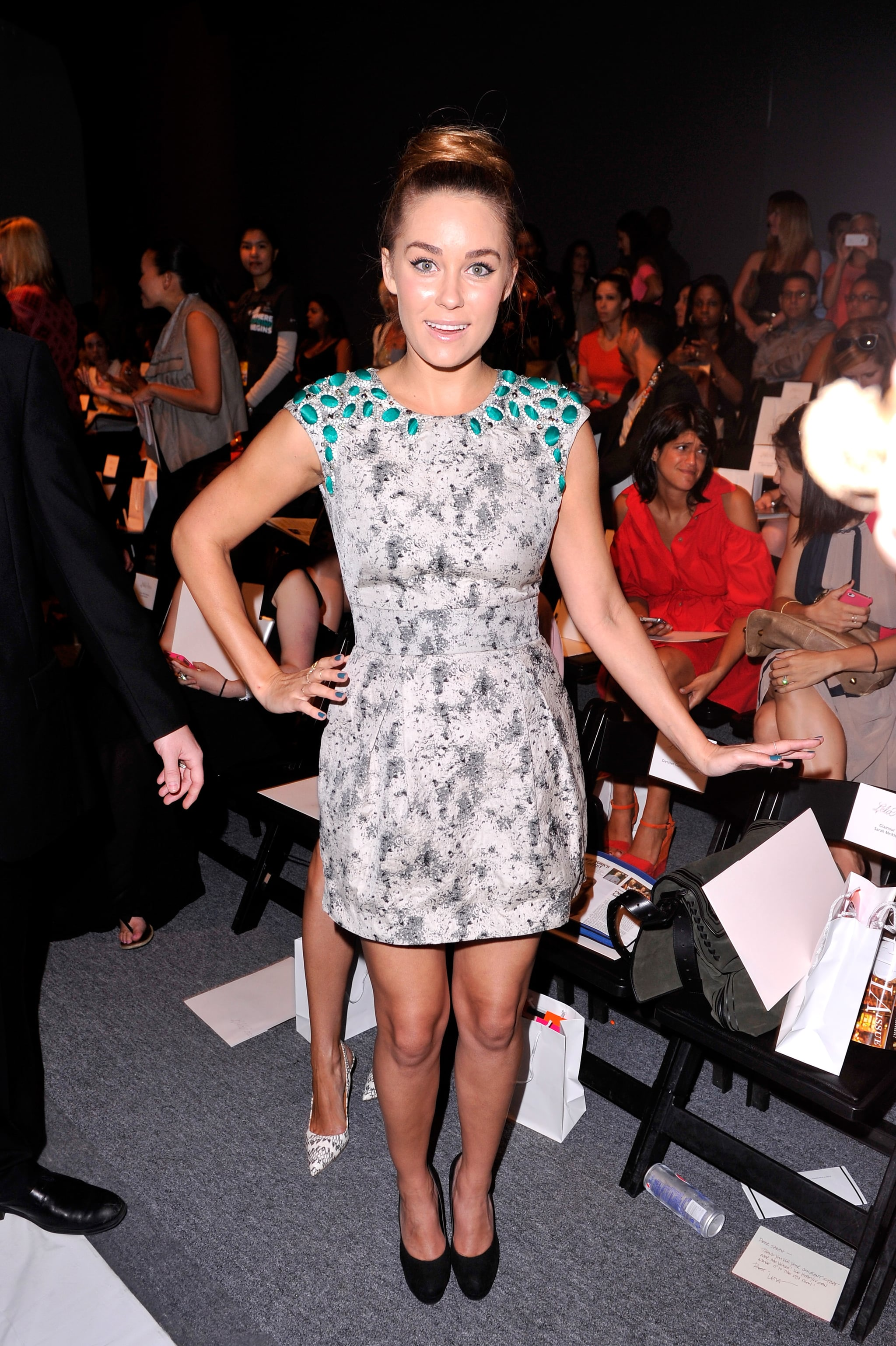 Lauren Conrad looked chic for the Lela Rose show during NYFW in September 2012.