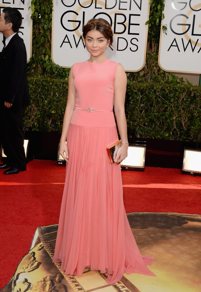 Sarah Hyland at the Golden Globes 2014