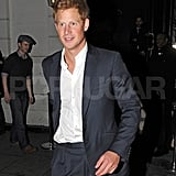 Prince Harry headed home from London's Brompton club.