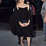 Angelina Jolie Black Dress in New York City June 2016