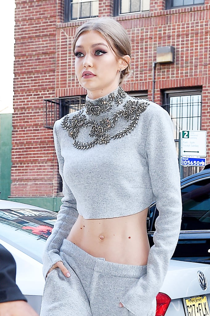 A Close Up of the Embellished Crop Top