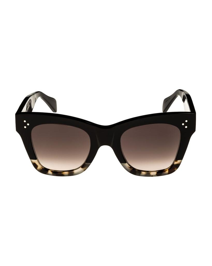 Celine Two-Tone Gradient Cat-Eye Sunglasses
