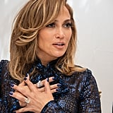 Jennifer Lopez's Navy Nail Polish Color