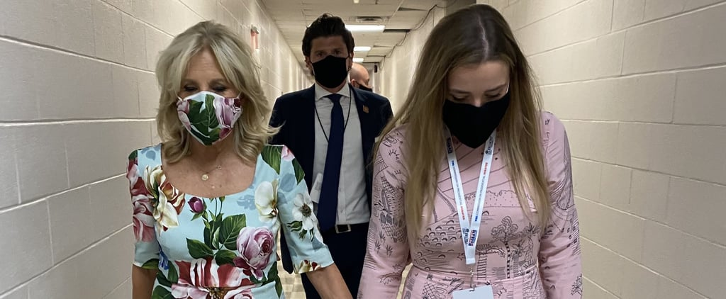 Jill Biden's Floral Face Mask and Dress at the Final Debate