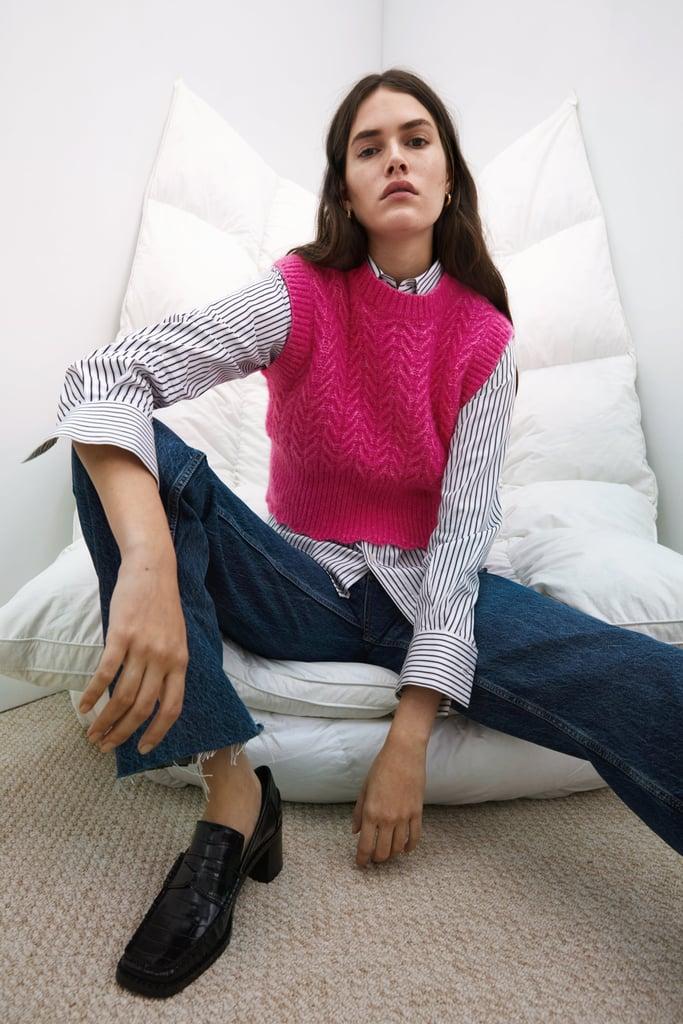 Woven Knit Vest