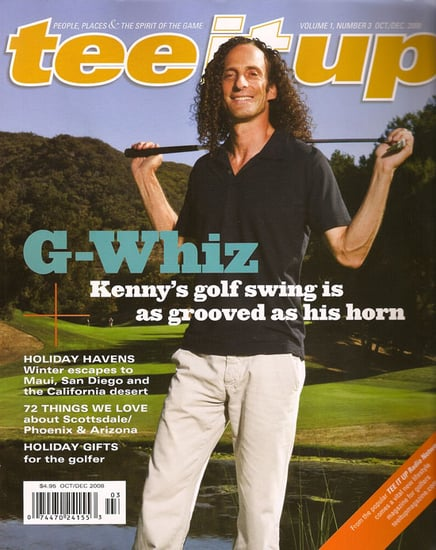 Kenny G on the Cover of Tee It Up Magazine