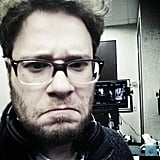 Seth Rogen sent Judd Apatow a selfie (at Apatow's request). Source: Twitter user Sethrogen