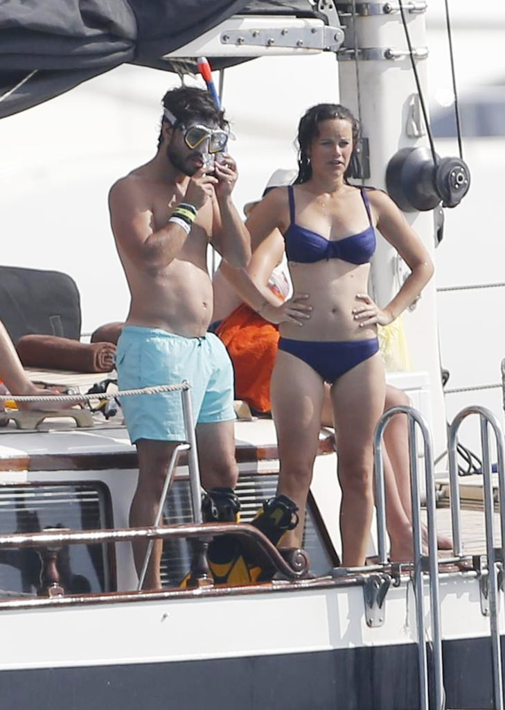 Kate was photographed soaking up the sun with William during a trip to Ibiza, Spain, in 2006, while Sofia and Carl Philip vacationed on the same Spanish island in 2014.