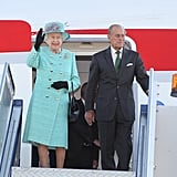 The Queen, 85, and her 90-year-old husband arrive in Australia.