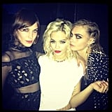 British beauties Alexa Chung, Rita Ora, and Cara Delevingne partied together at the event.