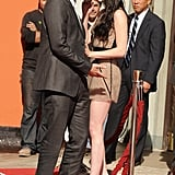 Robert Pattinson and Kristen Stewart got close at their hand and footprint ceremony in Hollywood in November 2011.