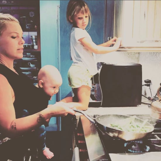 Pink Mommy Shamed for Cooking Photo