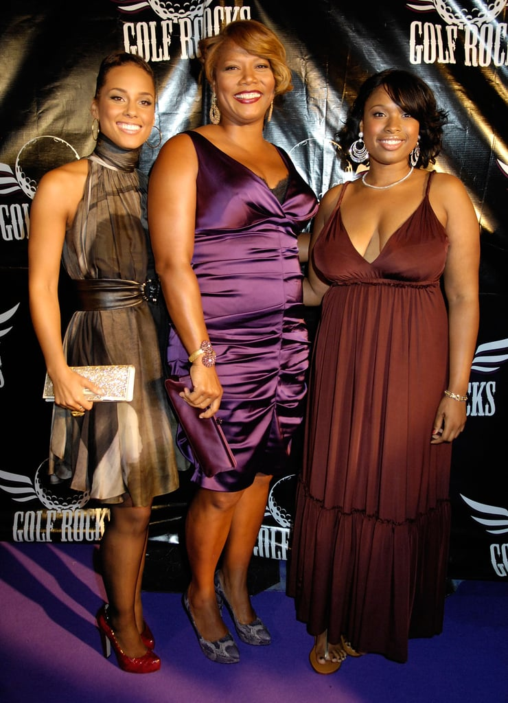 Alicia Keys, Queen Latifah and Jennifer Hudson partied together during the 2008 festivities.