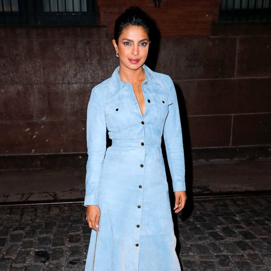 Priyanka Chopra's Suede Michael Kors Dress October 2018