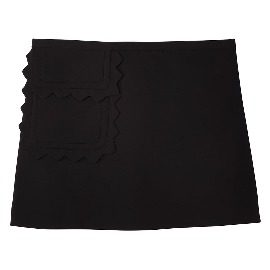 Women's Plus Black Twill Skirt with Scallop Trim Pocket ($30)