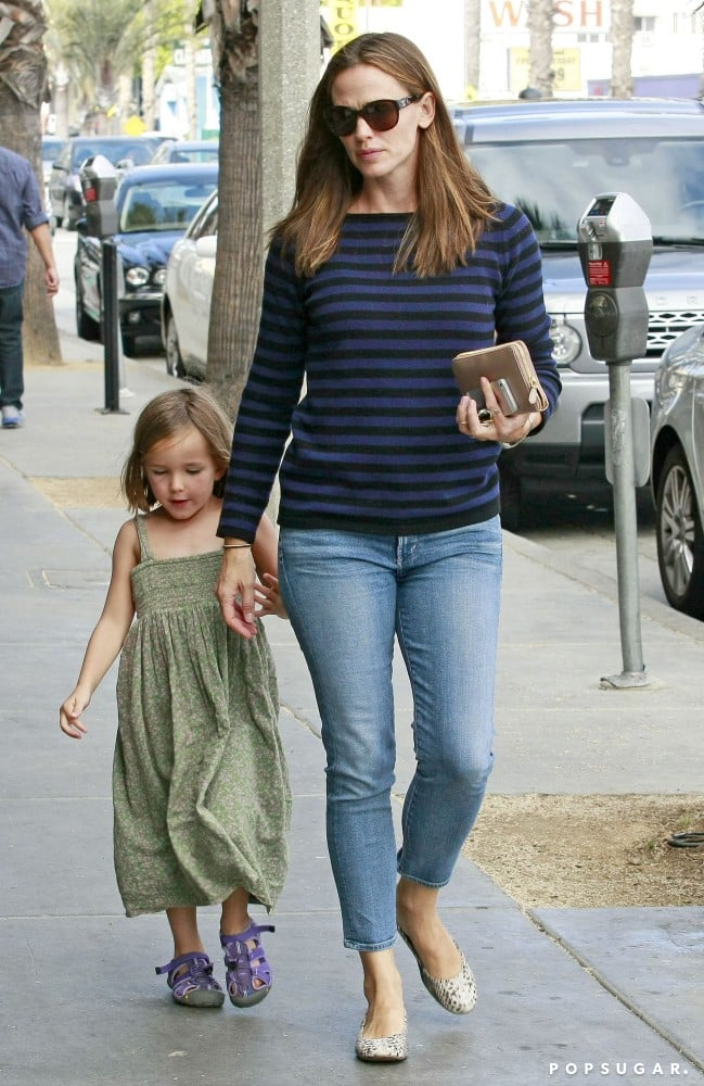Jennifer Garner held her daughter Seraphina's hand while shopping in LA on Saturday.