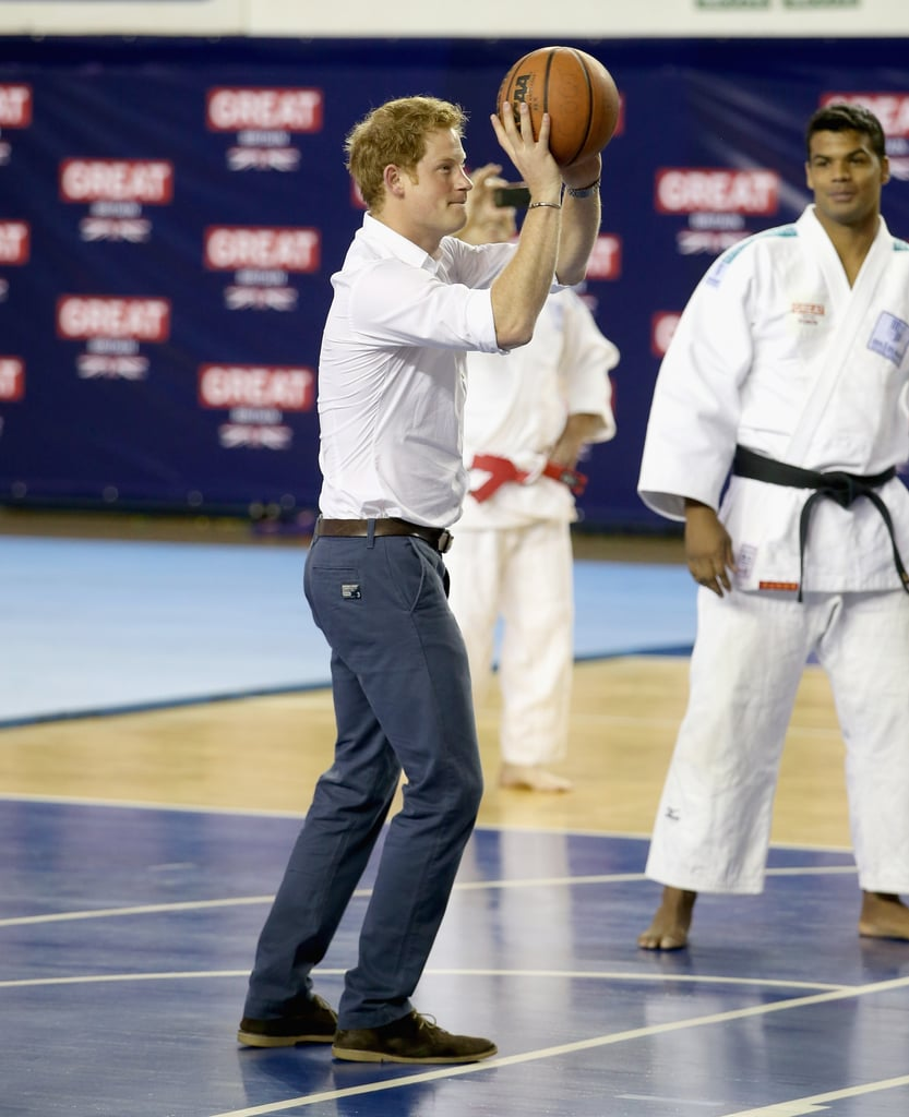 Pictures of Prince Harry Playing Sports