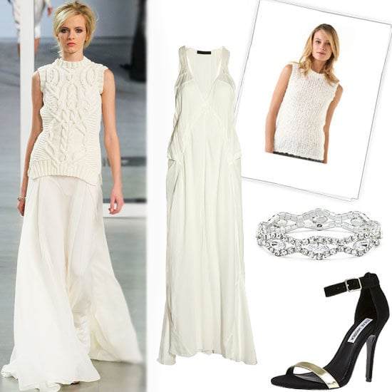We love the idea of a Winter-white look. Get Derek Lam's runway look for less with our editor's guide.