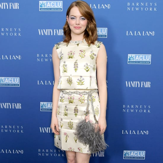 Emma Stone Wearing Giambattista Valli at La La Land Dinner