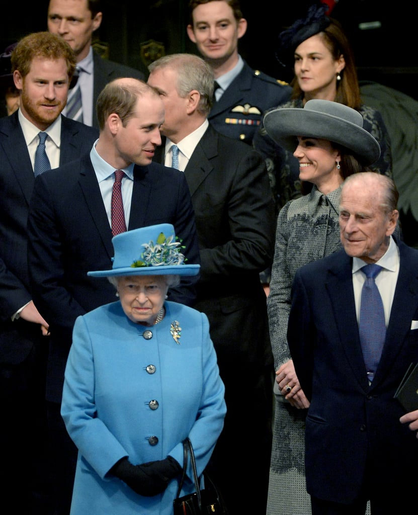 Philip was joined by his grandsons William and Harry, as well as Kate Middleton and Queen Elizabeth, for a Commonwealth Day service in March 2016.