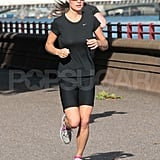 Pippa Middleton runs by the Thames.