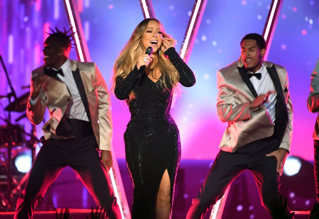 "In addition to performances from artists like the Jonas Brothers and host Kelly Clarkson, the Billboard Music Awards treated us to a medley of Mariah Carey's hits performed by the superstar diva herself.  The 49-year-old hit the stage in a stunning black gown (with a slit up to there, slay), where she belted out songs like ""We Belong Together"" and ""Hero"" as handsome backup dancers twirled around her. Needless to say, everyone in the audience was deep, deep in their feelings. Making Carey's performance even more special is the fact that she sang right before she was honored with the event's annual Icon Award, taking over for last year's honoree Janet Jackson. Carey has the record for the most No. 1 hits on the Billboard Hot 100 for a solo artist and has scored hits across charts for genres like pop, hip-hop, and dance (which is unsurprising given the singer, songwriter, and producer's legendary five-octave range). Watch her belt it out ahead, and then keep scrolling for a closer look at her performance in photos.      Related:                                                                                                           Kelly Clarkson Covered Almost Every Single Top Hit at the BBMAs — It's as Epic as It Sounds"