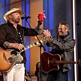 Toby Keith and Blake Shelton.
