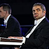 Rowan Atkinson as Mr. Bean goofed off during the opening ceremony.