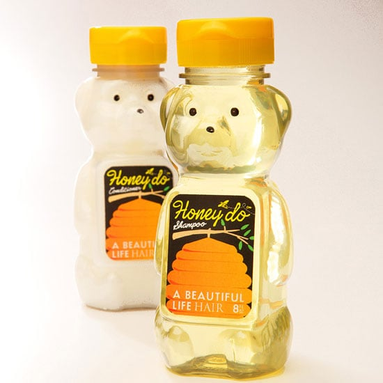 Shampoo and Conditioner Packaged in Honey Bottles