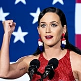 Katy Perry opted for a red, white, and blue pair on election night.