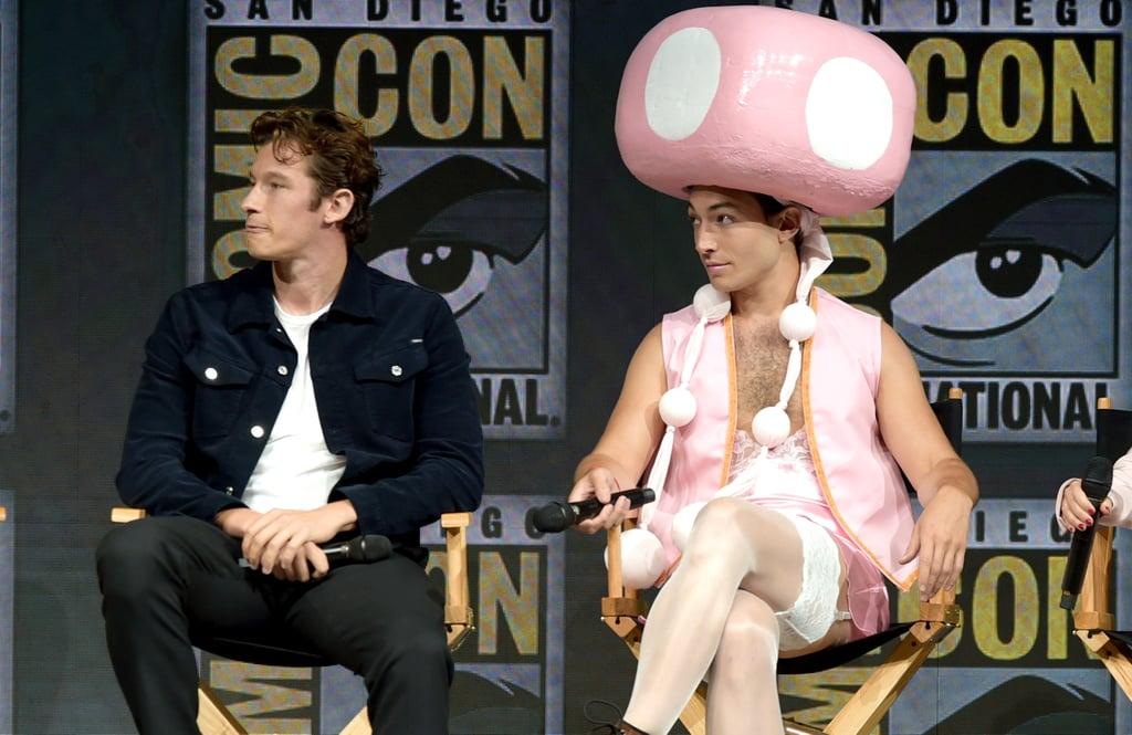 Ezra Miller as Toadette at Comic-Con 2018