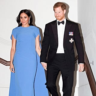 Meghan Markle Blue Safiyaa Dress in Fiji October 2018