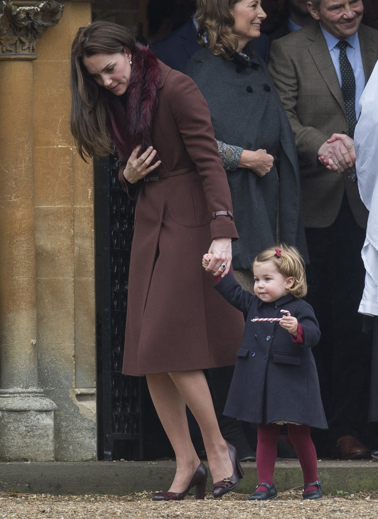 Kate Wore a Hobbs Celeste Coat With Her Tod's Fringed Leather Pumps