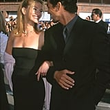 She and then-boyfriend Benjamin Bratt looked lovingly into each other's eyes at the 1999 premiere of The Runaway Bride.