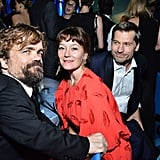 Pictured: Peter Dinklage, Erica Schmidt, and Nikolaj Coster-Waldau