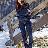Jennifer Connelly went the all-denim route in the snow in 2003.