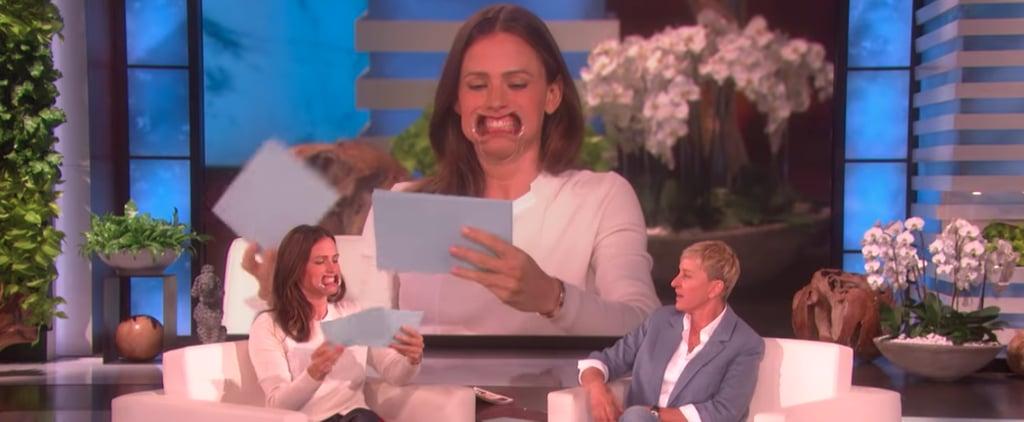 Jennifer Garner Playing Speak Out With Ellen Video