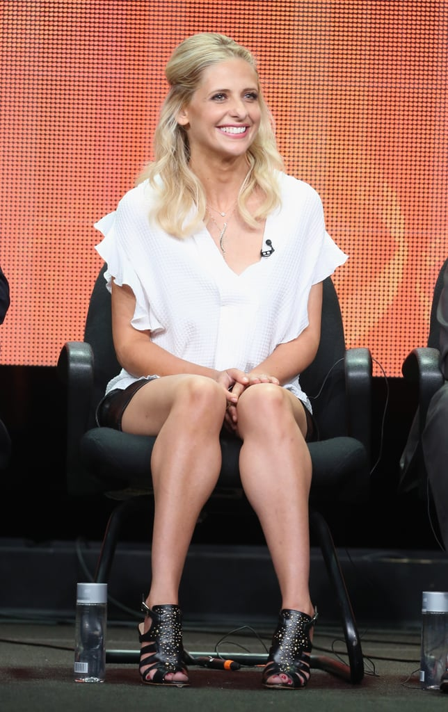 Sarah Michelle Gellar was on stage to talk about The Crazy Ones.