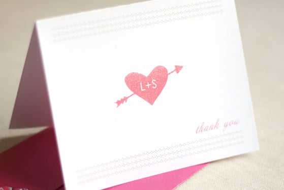 Monogrammed Thank You Card